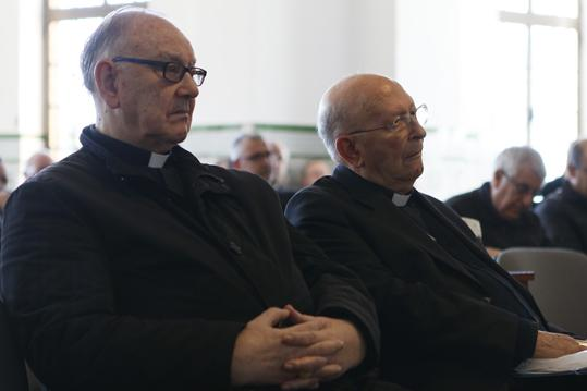 El cardenal Mons. Fernando Sebastián y el obispo emérito D. Antonio Dorado FOTO: B. LAFUENTE