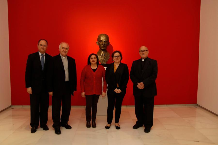 Enrique Belloso, Fernando Fuentes, Julia Manteca, Esther Luque y Francisco García Mota (de izquierda a derecha)  · Autor: S. FENOSA