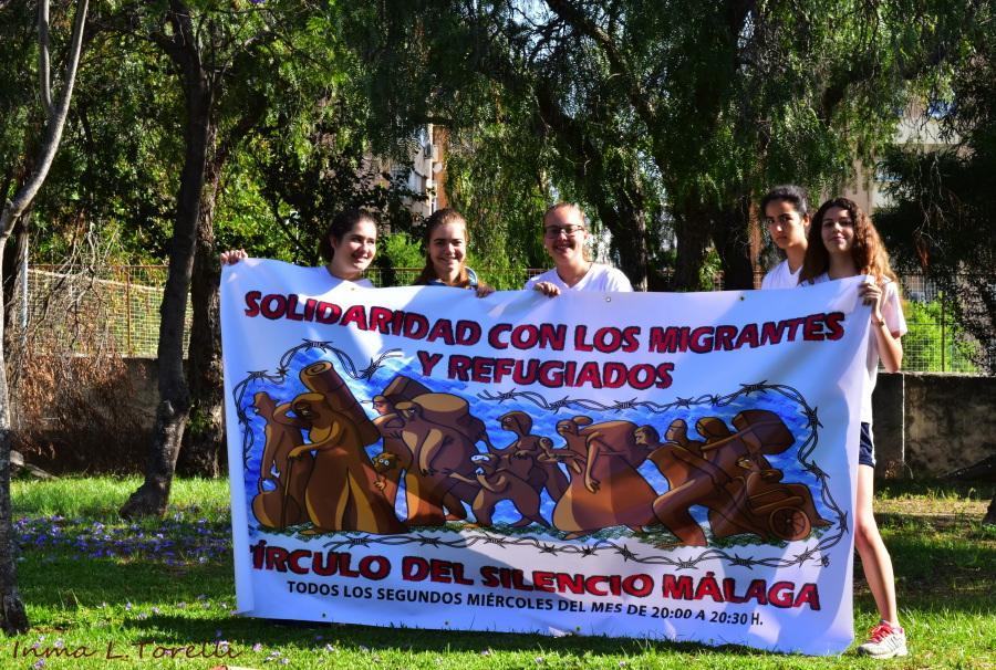 Círculo del Silencio con alumnos del colegio Santa Rosa de Lima