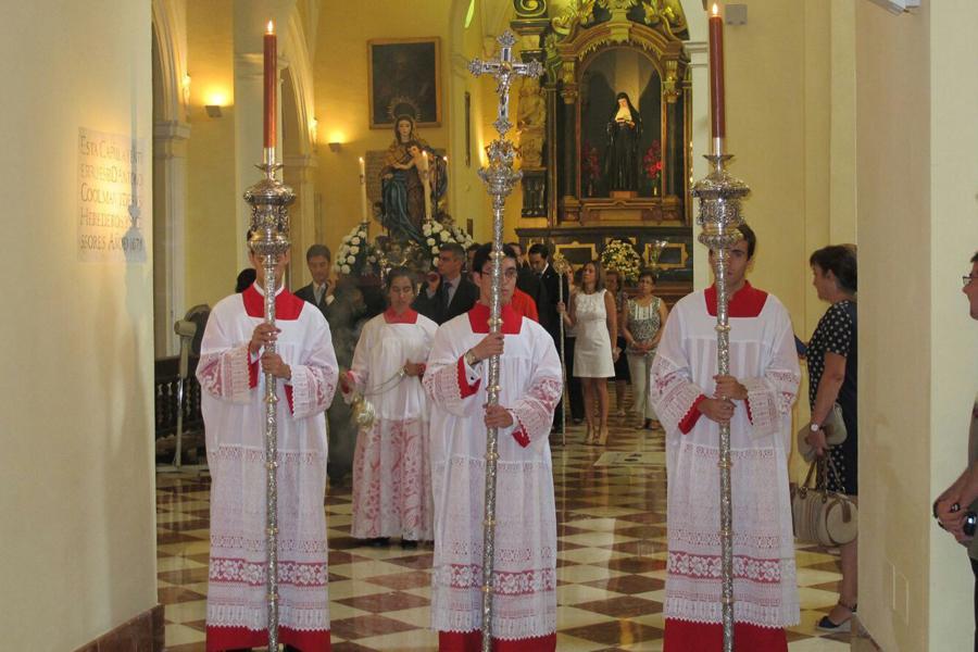 Procesión claustral de Ntra. Sra. de la Consolación y Correa