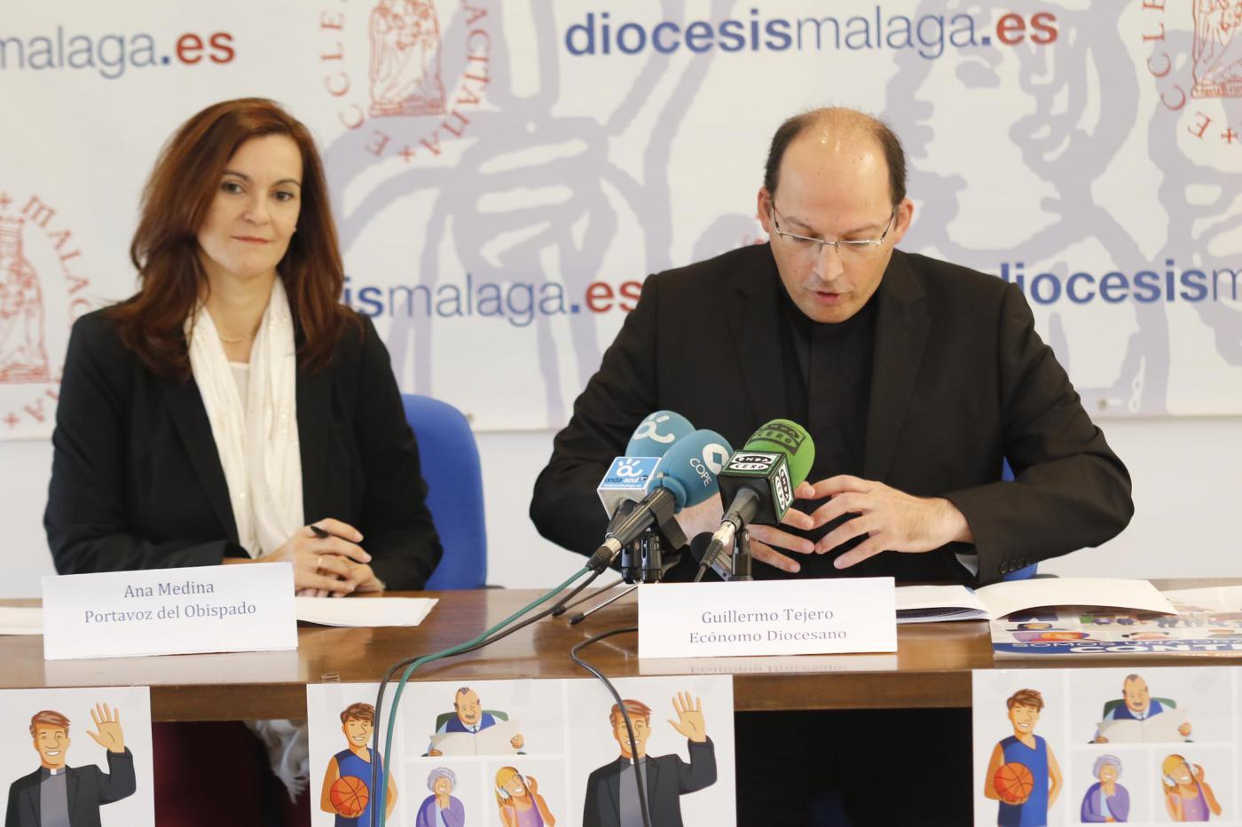 Momento de la Rueda de Prensa de presentación del Día de la Iglesia Diocesana  · Autor: S. FENOSA