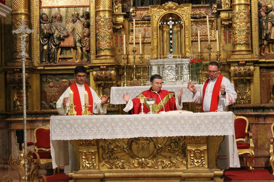 Visita del Seminario de Málaga al Santuario de Santa María de la Victoria. FOTO: A. BENZAQUÉN