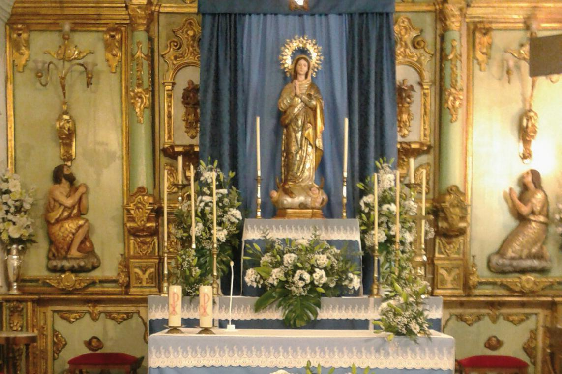 Imagen de la Inmaculada Concepción de la parroquia de Alameda