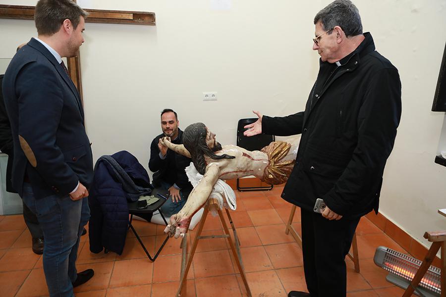 Obispado y la Fundación Málaga acuerdan la recuperación de las obras barrocas de la Divina Pastora de Capuchinos  · Autor: S. FENOSA