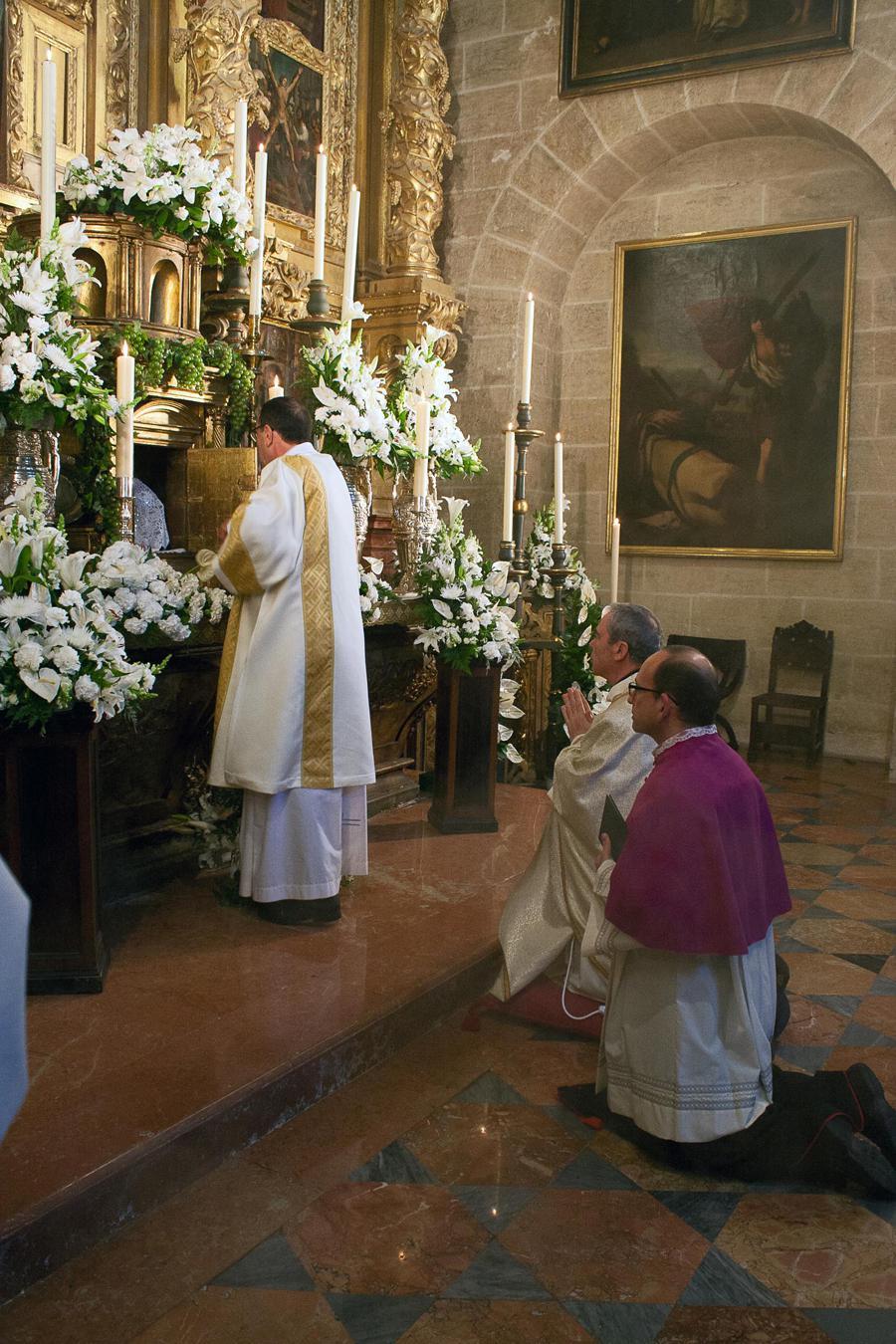 """Misa """"in Coena Domini"""" el Jueves Santo, en la Catedral de Málaga // M. ZAMORA"""