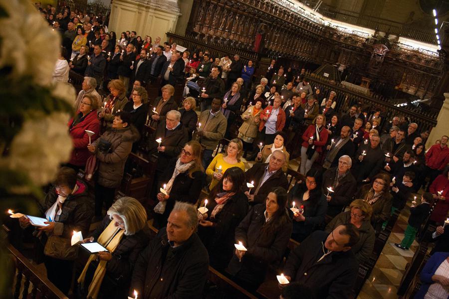 Solemne Vigilia Pascual 2018 en la Catedral de Málaga // M. ZAMORA