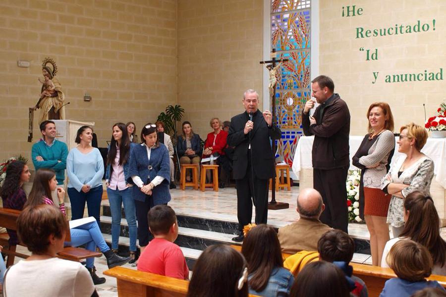 Visita Pastoral del Obispo de Málaga, Jesús Catalá, a la parroquia de El Salvador // J. CANO