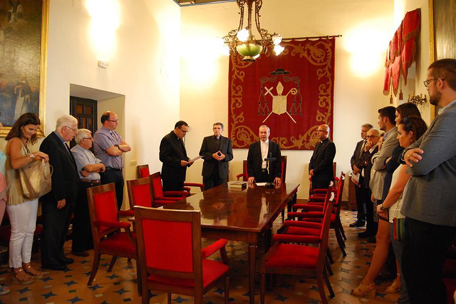 Toma de posesión de Rafael Carmona Estrada como ecónomo diocesano  · Autor: A. MEDINA