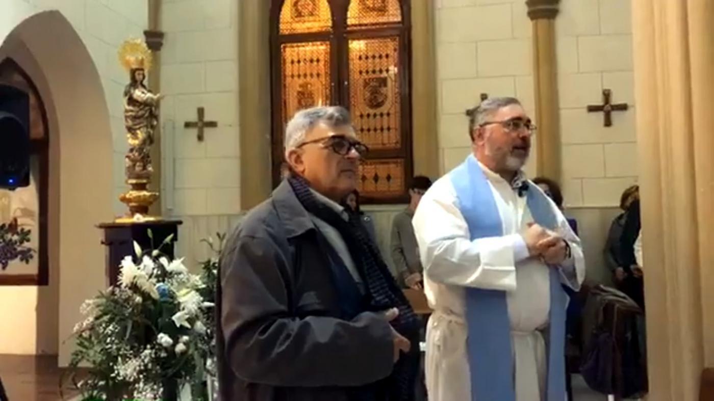 Vigilia de la Inmaculada en la parroquia castrense de la Inmaculada Concepción de Melilla