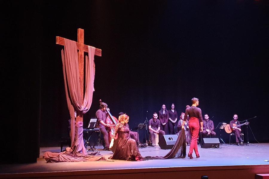 """Representación de """"La Pasión de María"""", obra de Jesús Cortés"""