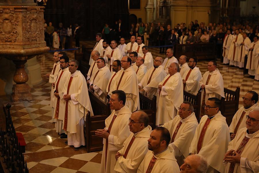 Misa Crismal celebrada en la Catedral de Málaga el 17 de abril de 2019 // S. FENOSA