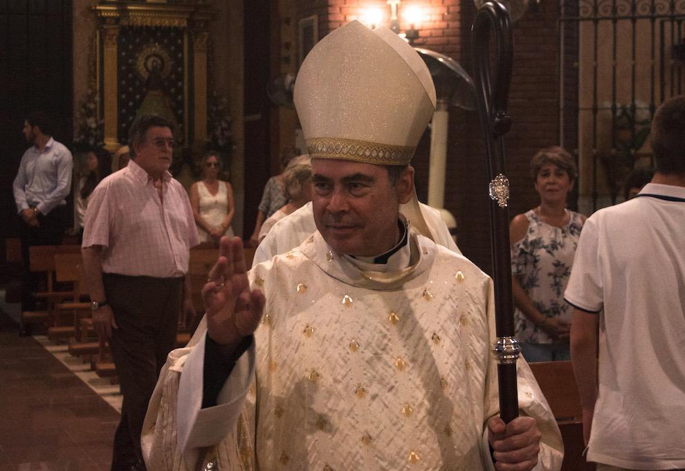 Visita pastoral del Obispo de Málaga, Jesús Catalá, a la parroquia Virgen del Carmen en Nueva Andalucía (Marbella) // E. GONZÁLEZ GUERRERO