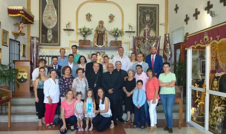Visita a la hermandad del Carmen de Estepona