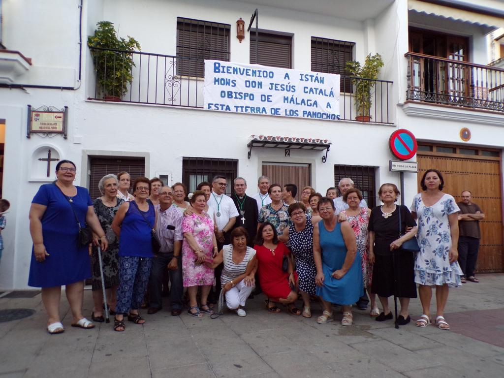 Visita pastoral a la parroquia de San Miguel, de Istán