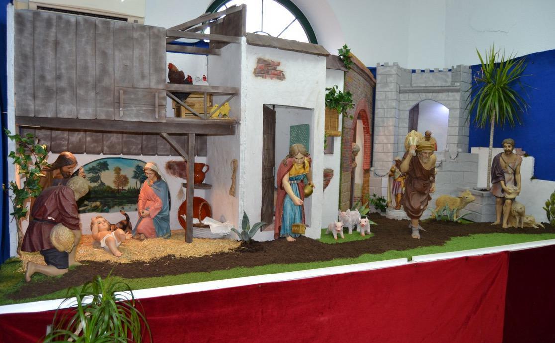 Belén ubicado en Cáritas Diocesana de Málaga, montado por Pablo Benítez