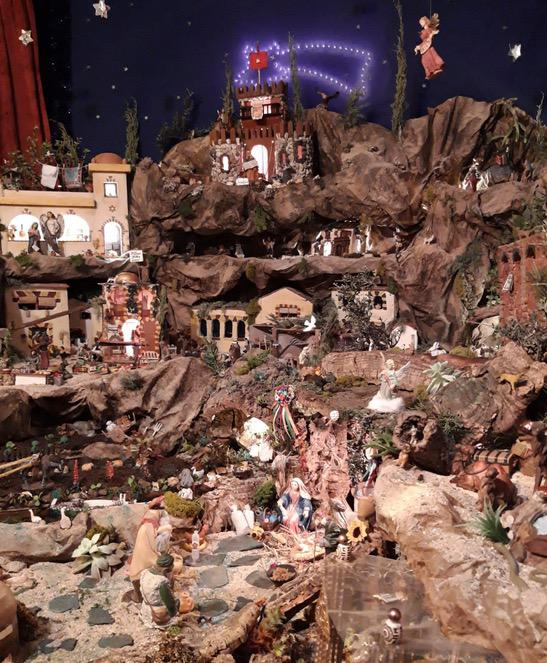 Belén de la Congregación de los Santos Patronos de Málaga en su casa de hermandad