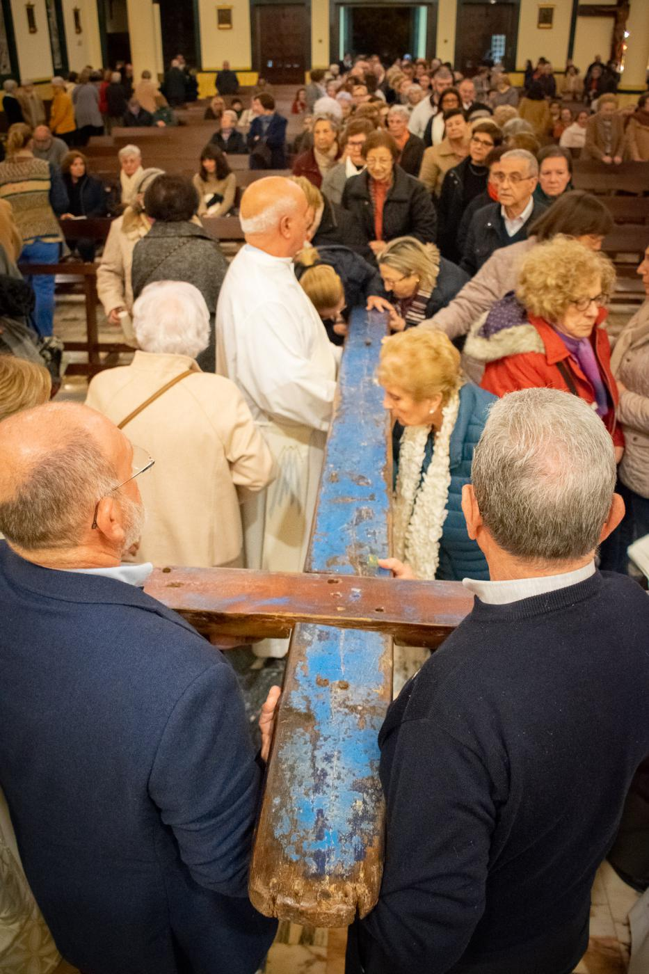 La Cruz de Lampedusa en la parroquia Santa María de la Amargura