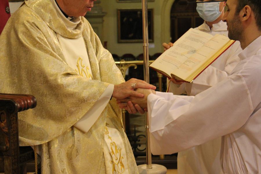 Ordenación de diácono del seminarista David Roca // D. GUTIÉRREZ