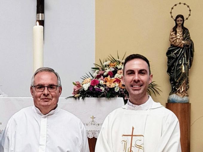 Jaume Gasulla y Antonio Castilla, anteriores sacerdotes de la parroquia de San Fernando, en Málaga