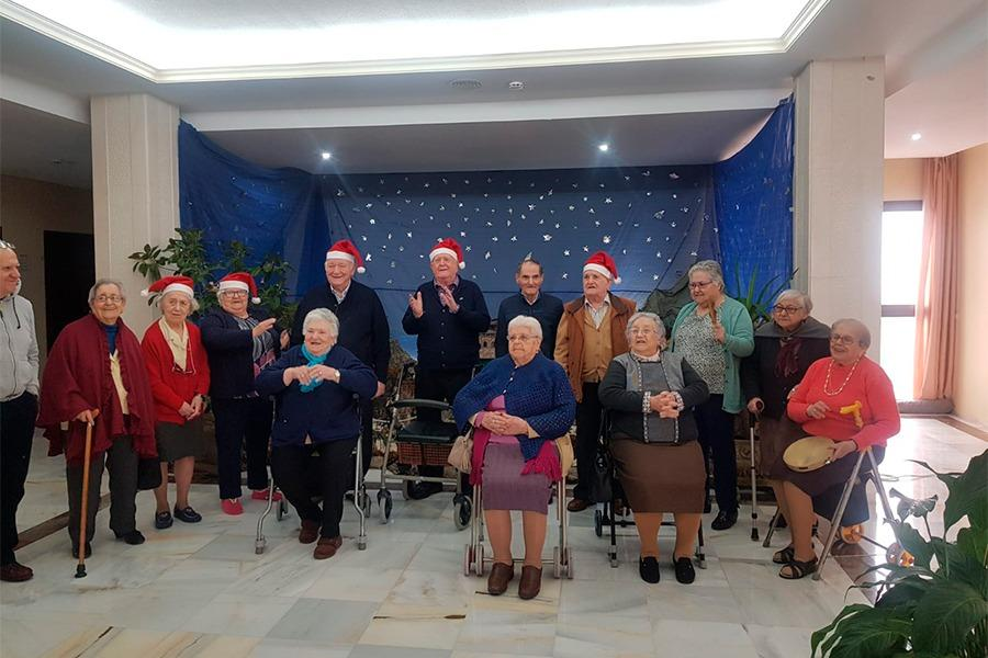 Esta Navidad en la Residencia de las Hermanitas de los Pobres de Ronda
