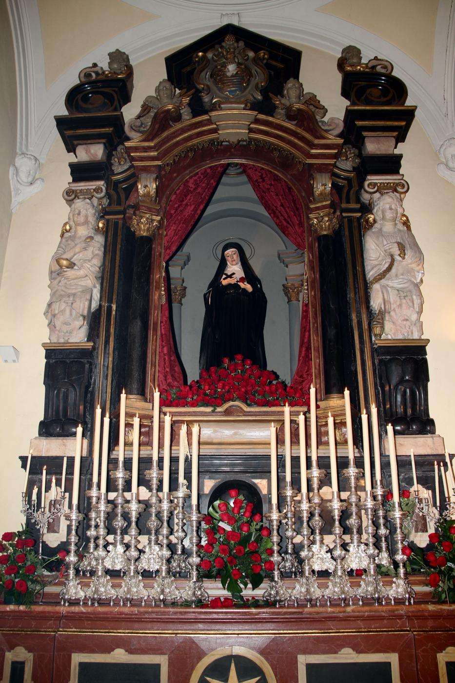 Celebración de la fiesta de Santa Rita en 2019
