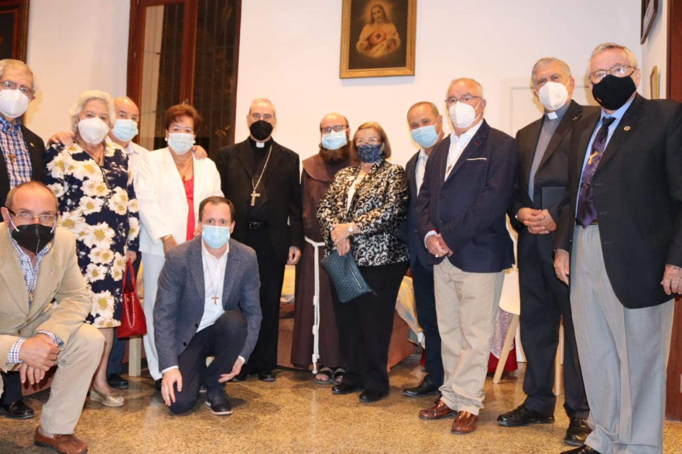 Visita Pastoral del Obispo de Málaga al Convento de San Francisco, en Vélez-Málaga