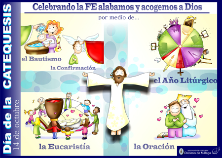Cartel Da de la Catequesis 201213  Dibujos de Fano en color